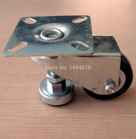 Wholesale Small inch flat topped universal polyurethane PU Leveling Casters wheel