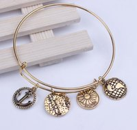 anchored style - Hot NEW mm diameter Alex And Ani Style Bracelet Retro Alloy LOVE Anchor Bracelet