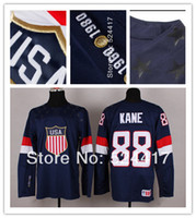 Cheap stitched 2014 Olympic Team USA 88 patrick Kane Jersey Sochi Winter olympic Ice Hockey Jersey Blue white