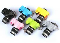 Wholesale Camera Keychain pendant chain SLR camera with flash shutter sound car key ring