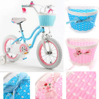 Wholesale Kids Bicycle Colorful Medium Baskets Woven Cycle Child Bike Flower Basket Bicycle Accessories