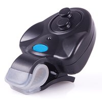 Wholesale New Black Electronic LED Light Fish Bite Sound Alarm Bell Clip On Fishing Rod