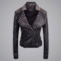 Cheap Ladies Black Biker Jackets | Free Shipping Ladies Black ...