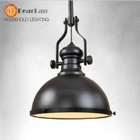 Cheap 2014 New Item Vintage LOFT American Good Quality Black Metal Shade Pendant Light Lamp Fixtures 110V,220v,Pendant Lamp For Decor order<$18no