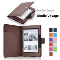 amazon - 2015 Newest Magnetic Smart Cover For Amazon KINDLE Voyage Book Style Tablet Cases Flip PU Leather Stand Protector Pen Holder Multicolor