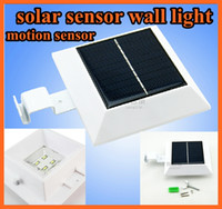 Wholesale Wall lamp Solar Powered Sensitive Motion Sensor led lamp LEDs Outdoor Detection auto Light gardens villa backyards building corridor