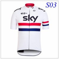 Cheap 2016 Sky Team Cycling Jerseys Tops Breathable Tour De France Bike Cycling Clothing Ropa Ciclismo Polyester Quick-Dry Racing Bicycle Clothes