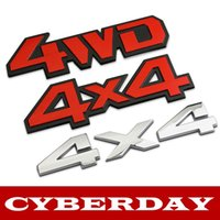 Wholesale New Car Metal Chrome WD X4 Displacement Emblem Badge All Wheel Drive Auto D Sticker Decal Styling
