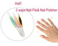 acrylic polisher - Nail Art Acrylic Purple Nail File amp Nail Polisher ways Tool