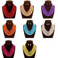 african beaded jewellery - african coral beads jewelry set Red jewellery sets for women beaded necklace jewellery fashion Handmade