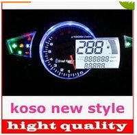 Wholesale KOSO RX1N style1100RPM LED digital speedo speedometer for motorcycle Instruments quot quot top sale latest bust buy off new