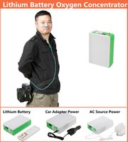 Wholesale Portable Health Care Medical Li ion Battery Lithium Oxygen Concentrator Car Travel Use Mini DC Portable Oxygen Generator Machine