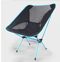 Wholesale Outdoor ultra portable aluminum alloy folding chair Moon chair Multifunctional fishing chair Lazy chair