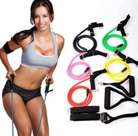 bungee cord - 100pcs Bungee Cord Cable Machine Lts Chest Expander Muscles Latex Tube Pull Rope Fitness Equipment yoga To Lose Weight