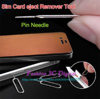 Wholesale Brand New Take Sim Card eject Remover Tool Pin Needle For iPhone GS S S HTC Xiaomi