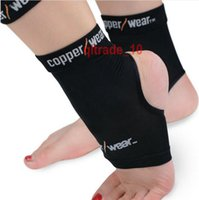 Wholesale 300 BBA5529 basketball football Copper Wear dance fitness Ankle Support Breathable Compression Outdoor Sports Gym Protecting Retail Package