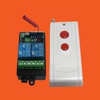 al por mayor 12v interruptor de dos vías-12V de dos vías interruptor de control remoto del módulo / Aprendizaje / superheterodino receptor / blanco con control remoto de 2 botones