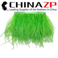 beautiful christmas crafts - Gold Supplier CHINAZP Crafts Factory yards cm inch Width Beautiful Decorative Dyed Lime Green Ostrich Feather Fringe Trim