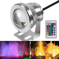 Wholesale 10W Colorful Underwater Swimming Pool LED Light DC V LM Waterproof IP68 Fountain Pond Lamp RGB Light Controller Retail Box order lt no