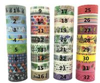decorative tape - 50pcs New Designs Washi paper tape Masking washi japanese paper DIY adhesive washi Decorative tape