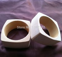 Cheap Wholesale-One Piece Only Wholesale DIY Unfinished Square Wooden Bangles V11
