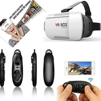 Wholesale Virtual Reality D Glasses google cardboard VR box for smartphones inch to Inch bluetooth gamepad