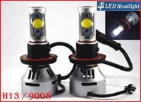 2 jeux H13 9008 72W 7000LM CREE Auto LED phare du système Hi / Low double 4S faisceau UPGRADED MTG2 CHIP Xenon Blanc modifiable Conduite Anti-brouillard