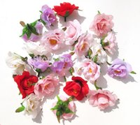 silk rose heads - Honey rose roses silk flower simulation flower head fake flowers DIY bag decorative flower hairpin hat