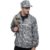 camouflage clothing - TAD skin camouflage jacket sun protection clothing outdoor clothing slim summer hiking clothes jersey male and female models