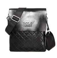 2015 del progettista di marca degli uomini del cuoio genuino borsa nera Brown computer portatile della cartella a tracolla Messenger Bag 3 colori