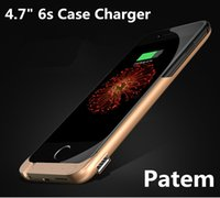 apples wireless cases - 1pcs Mah Power Case External Battery Backup Power Case Charger Cover Pack Power Bank Fits For Apple iPhone s Battery Case