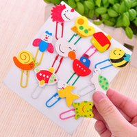 Wholesale Sets Pieces Set Paper Clip Bookmark Nice Bookmarks Kawaii Cute Paper Clips Cute papelaria criativa