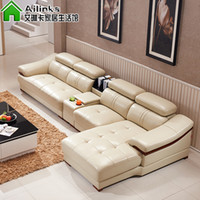 living room furniture - Modern Genuine leather sofa in sofa furniture living room furniture PU Full Grain Genuine Leather couch