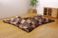 Wholesale FU07 Washable Kotatsu Futon Blanket Square x205cm Patchwork Style Cotton Soft Friendly Quilt Japanese Kotatsu Table Cover