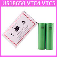 Cheap US18650 VTC5 2600mAh VTC4 2100mAh 3.7V Li-ion battery clone for E cigarette Manhattan King Nemesis Stingray Mechanical mods 0204105-1