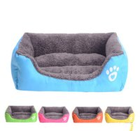 Wholesale Pet Dog Bed Warming House Dog Puppy Soft Fleece Beds Home Dog Cat Kennel House Warm Winter for Dog Cat Pet Products
