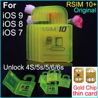 apple r - Newest Official R SIM rsim10 RSIM Thin sim Card unlocking for Ios9 X X X For iPhone S s s Sprint AU Softbank s direct use