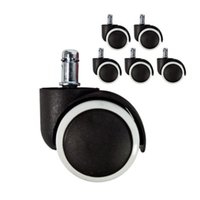 Wholesale Set Of Rubber And Polyurethane Dual Swivel Wheel Casters Office Computer Chair Castors Grip Ring Stem