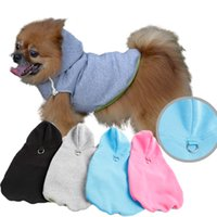 on and off - Easy on and off Dog Hoodie Harness Fleece Vest Hoody different colors