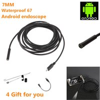 Wholesale 7MM M Focus Camera Lens USB Cable Waterproof LED Android Endoscope quot CMOS Mini USB Endoscope Inspection Camera Mirror GIFT