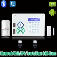 Cheap Wireless Bluetooth Home GSM SMS Alarm system House intelligent Burglar Security Alarm System accept Android APP