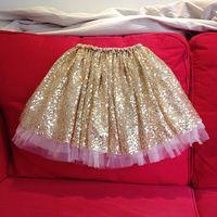 Wholesale new arrive Golden sequins girls tutu skirt children clothing baby party pettiskirt for girls kids clothes