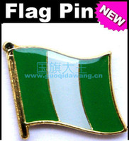 Wholesale Nigeria Metal Flag Badge Flag Pin
