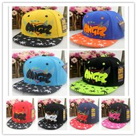 angels snapback - SnapBack Canvas kids baseball caps snapback hats Fashion Outdoor Caps Korean ANGEL Embroidery hip hop cap flat DHL