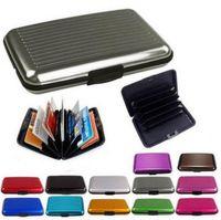 aluminum case for business card - Waterproof Business ID Credit Card Wallet Holder Aluminum Metal Pocket Case For Men Women DHL60147