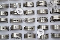 american steel wire - mix design wire cut Stainless Steel rings Jewelry mm jewelry r0159