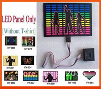 Cheap Drop Shipping! LED Panel with Velcro+ Battery Devicer DIY LED t shirt Sound Activated Equalizer light up & down