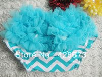 big lots diapers - big blue chevron ruffle bloomer hot selling baby diaper covers bloomers ruffles toddler shorts HK