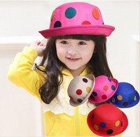 Wholesale Summer Spring Caps For Children Girls Princess Mushroom Shape Hat Kids Rainbow hat Fit T