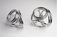 Wholesale NEW STYLE Holes Male Delay ball stretcher Chastity Cock Rings Two Size Can Chose Metal FETISH Delayed Ejaculating Ring pines inlargment